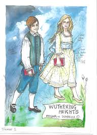 costume renderings bringing wuthering heights to life charlotte edgar isabella as children