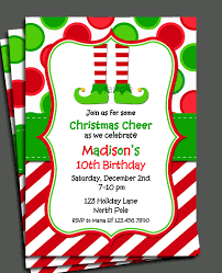 christmas elf invitation printable christmas birthday 🔎zoom