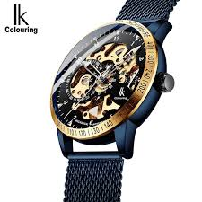 <b>IK</b> Colouring <b>Mens</b> Watches <b>Mesh</b> Braided Stainless <b>Steel</b> Band ...