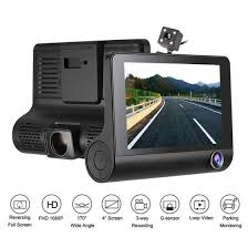 Shop <b>3 Lens WDR Dash</b> Camera 4 inch Display HD 1080P Car ...