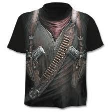 <b>2019 New</b> Cloudstyle Own Design Men's <b>T shirt</b> 3D Gun Warrior ...