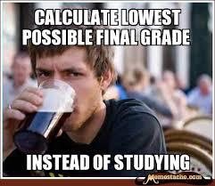 Calculate lowest possible final grade - Memestache via Relatably.com