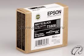 <b>Картридж Epson</b> C13T580800 (T5808) matte black/черный ...