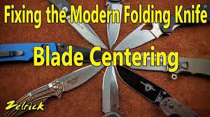 Fixing The Modern <b>Folding Knife</b>: <b>Blade</b> Centering - YouTube