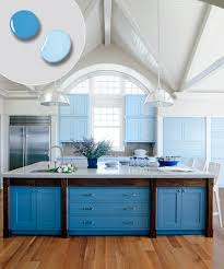 painted blue kitchen cabinets house:  blue kitchen cabinets paint colors for kitchens with dark cabinets photo