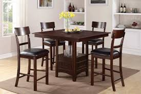 tabacon counter height dining table wine: height  square brown wooden bar height dining table set with shelf