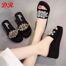 Buy <b>Summer</b> Spring <b>Women Ladies</b> Girls Crystal Wedges Sandals ...