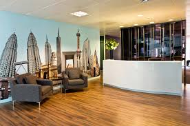 funky office designs callender howorth redesigns flamingos london office interior desire funky meets functional in howorths bhdm design office design 1