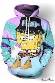 <b>New</b> Fashion <b>Cartoon Printed</b> Long Sleeves Pullover Hoodie with ...