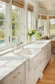 french country white marble single sink kitchen simple farmhouse style decorating country kitchen sink home im