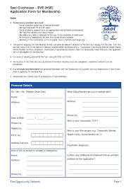 applications eve rainbow clubhouse application form