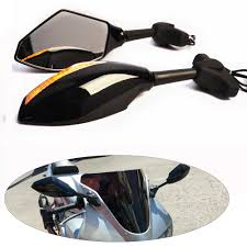 evomosa <b>Motorcycle Integrated LED</b> Turn Signal Side Mirrors For ...