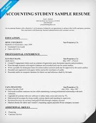 cpa resume examples  professional resume examples  accounting    accounting student resume sample