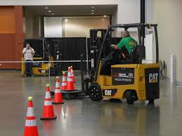 forklift rodeo showcases need for skill safety and pacing the forklift competition began the challenge of maneuvering an electric cat e30n2 lift truck through an obstacle course a pallet holding a cone