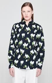 Escada® Official Site | Cotton <b>Floral Blouse</b>