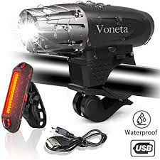 Bike Light Set USB <b>Rechargeable</b> Mountain Voneta Bicycle ...