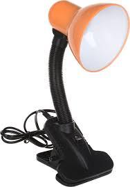 Светильник <b>настольный</b> Uniel TLI-202, цвет: оранжевый, черный ...