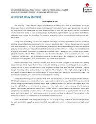 contrast essay amp outline sample contrast essay amp outline sample universidad tecnolgica de pereira  licenciatura en lengua inglesa course intermediate english  developing writing
