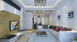 Interior Design For Living Room And Dining Room Engaging Comfortable Sectional Sofa With Big Screen Lcd Tv On