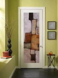 because a blank door makes the perfect canvas door art abstract art interior doors interior design ideas decorating artistic wood pieces design