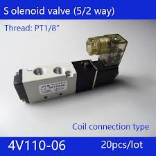 20pcs free Shipping 2 Position <b>5 Port</b> Air Solenoid Valves 4V110-06 ...