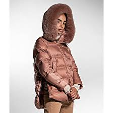 Down <b>jacket</b> with <b>fox</b> fur, color Brown | Peuterey