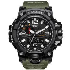 smael new top brand sport digital watch relogio masculino clock men army green 1617b fashion watches mens led waterproof