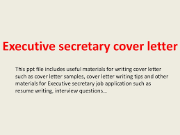 executive secretary cover letter cover letter for a secretary position