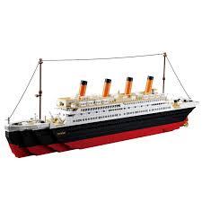 SLUBAN <b>Model building kits compatible</b> with lego city Titanic RMS ...