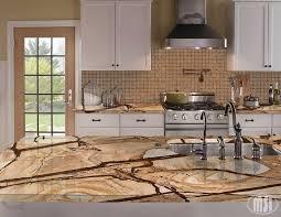 white granite stone kitchen island