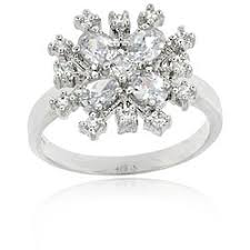 Shop Icz Stonez Sterling Silver Cubic <b>Zirconia Snowflake Ring</b> - On ...