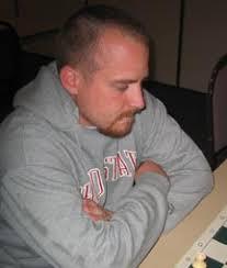 Russell Bowerman IFrank Donoghue vs. Russell Bowerman [B03] 1 e4 Nf6 2 e5 Nd5 3 d4 g6 4 Nf3 Bg7 5 Nc3 Nxc3 6 bxc3 d6 7 exd6 cxd6 8 Be2 0-0 9 ... - bowerman