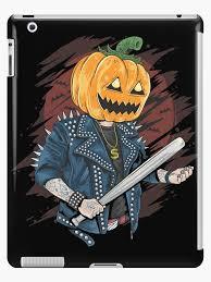 Pumpkin Head Punk - Scary <b>Halloween Cartoon</b> Art iPad <b>Case</b> & Skin