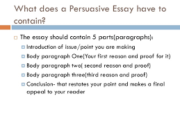 persuasive essays   what does a persuasive essay