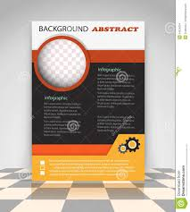 orange and black creative business flyer stock vector image orange and black creative business flyer