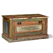 vidaXL <b>Solid Reclaimed</b> Wood Shoe <b>Storage Bench</b> Hallway ...