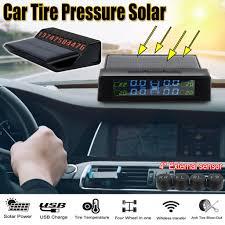 <b>Smart Car TPMS</b> Tyre Pressure Monitoring System Solar Power ...