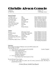 resume examples resume template sample musician resume music musicians resume template