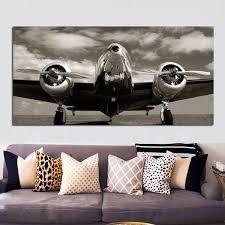 2019 <b>Retro</b> Print Abstract Blank White <b>Airplane Landscape</b> Painting ...