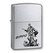 <b>Зажигалка ZIPPO Duck Hunting</b>, с покрытием Satin Chrome ...
