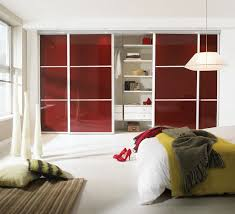 awesome red interior door for closet feat unique bedroom pendant light also stripes rug idea bedroomastounding striped red black striking