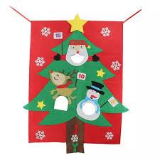 <b>1PC</b> Christmas Pendant <b>Felt Cartoon</b> 3 Holes Christmas Tree ...