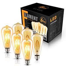 <b>LED</b> Edison Bulb Dimmable Amber Warm 2700K Antique Vintage ...