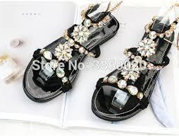 <b>2018</b> Vinapobo Brand Sandals <b>Women</b> Rhinestone Summer <b>Shoes</b> ...