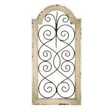 iron wall decor u love: quick view ivory wood metal wall daccor