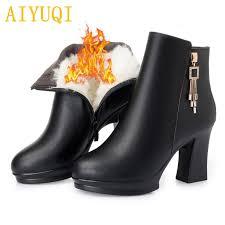 <b>AIYUQI</b> Women <b>boots</b> 2018 winter new genuine leather female ...
