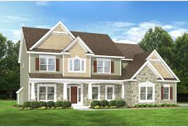 ePlans Country House Plan   Colonial With Two Story Foyer      Front