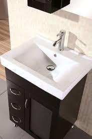 element contemporary bathroom vanity set: design element oslo single porcelain integrated drop in countertop and sink vanity set