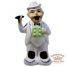 <b>Ceramic Smoking</b> Man <b>Ashtray</b> - Corona <b>Cigar</b> Company