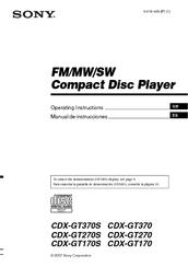 sony xplod cdx gt370s manuals